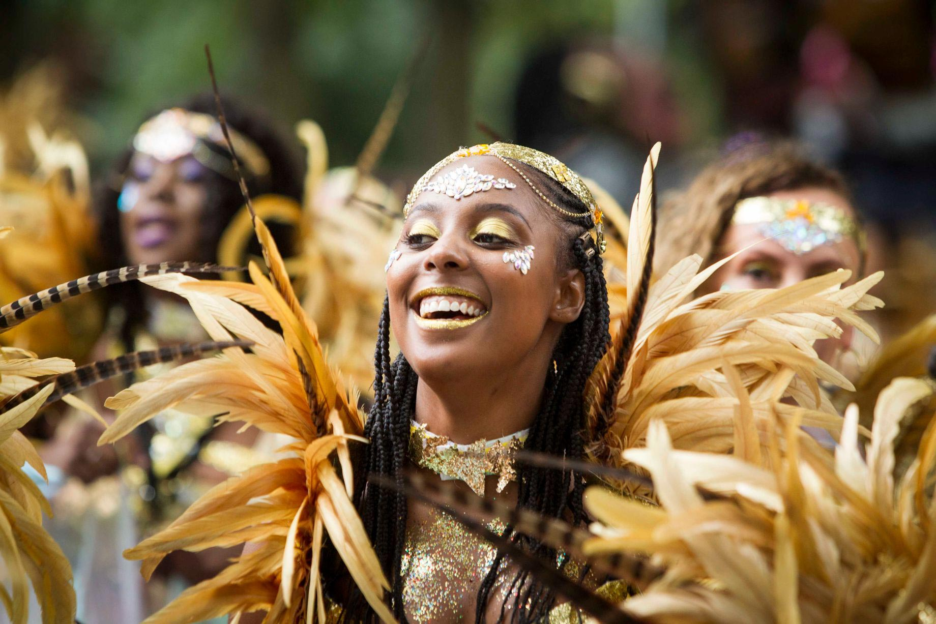 Leeds West Indian Carnival performer (photo by Chris Bull)